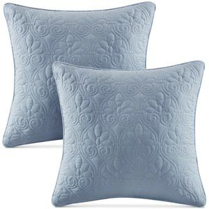 NEW Blue Madison Park Decorative Quilted Pillow Set of 2